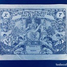 Libros de segunda mano: CUADERNO DE ESCRITURA - INGLES GRAFICO Nº 7 / SIN UTILIZAR / EPOCA REPUBLICA / MUY RARO. Lote 172895335