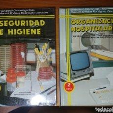 Libros de segunda mano: SEGURIDAD E HIGIENE + ORGANIZACIÓN HOSPITALARIA, EVEREST. Lote 173031950