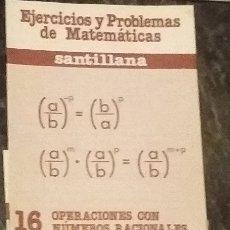 Libros de segunda mano: SANTILLANA. LOTE DE 4 CUADERNOS DE EJERCICIO Y PROBLEMAS DE MATEMATICAS CONSECUTIVOS. AÑOS 80. . Lote 173419133