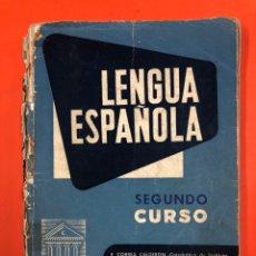 Libros de segunda mano: LENGUA ESPAÑOLA SEGUNDO CURSO - CORREA Y LAZARO CARRETER - TEXTOS ANAYA 1959. Lote 173448552