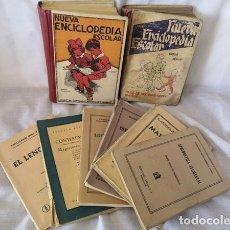 Libros de segunda mano: LOTE 8 LIBROS ESCOLARES DE LOS AÑOS 40 - NUEVA ENCICLOPEDIA ESCOLAR CONTESTACIONES EL LENGUAJE .... Lote 173502812