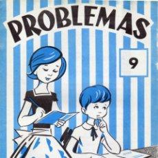 Libros de segunda mano: CUADERNILLO DE ROBLEMAS EDELVIVES Nº 9 PARA NIÑOS DE 6 A 7 AÑOS (NIVEL EGB). Lote 173666574