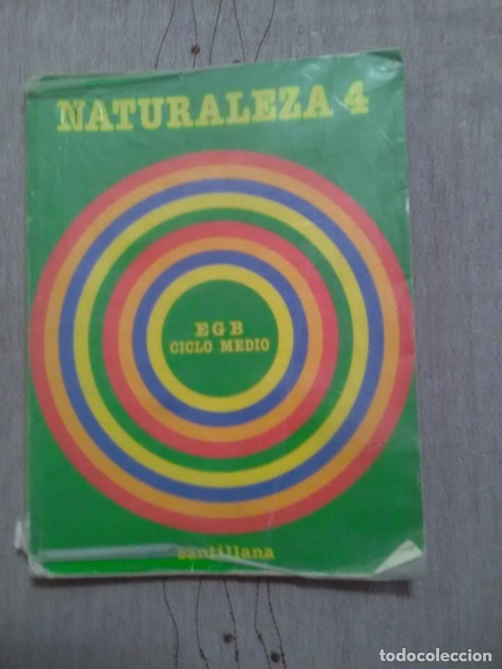 NATURALEZA 4 EGB CICLO MEDIO SANTILLANA 1982 (Libros de Segunda Mano - Libros de Texto )
