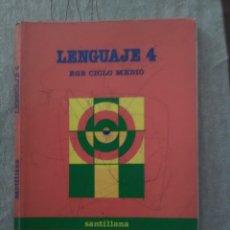 Libros de segunda mano: LENGUAJE 4 EGB CICLO MEDIO SANTILLANA 1988. Lote 173764758