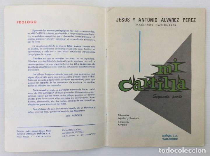 Libros de segunda mano: Cuaderno Mi Cartilla – Segunda parte – Alvarez – 1967 - Foto 5 - 173813263