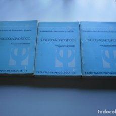 Libros de segunda mano: PSICODIAGNOSTICO. TOMOS I, II, III. Lote 174006009