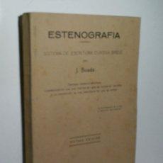 Libros de segunda mano: ESTENOGRAFÍA. SISTEMA DE ESCRITURA CURSIVA BREVE. BOADA J. 1938. Lote 174316844