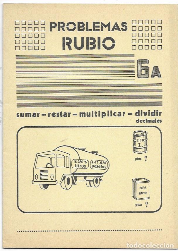 CUADERNO * PROBLEMAS RUBIO * Nº 6 A -AÑO 1977 (Libros de Segunda Mano - Libros de Texto )