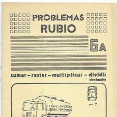 Libros de segunda mano: CUADERNO * PROBLEMAS RUBIO * Nº 6 A -AÑO 1977. Lote 213415420
