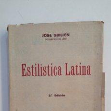 Libros de segunda mano: ESTADISTICA LATINA. JOSE GUILLEN. EDICIONES SIGUEME 1954. SALAMANCA. TDK411. Lote 174548349