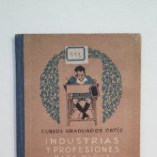 Libros de segunda mano: INDUSTRIAS Y PROFESIONES PARA NIÑOS. GRADO ELEMENTAL. CURSOS GRADUADOS ORTIZ. S. CALLEJA. TDK411. Lote 174549280