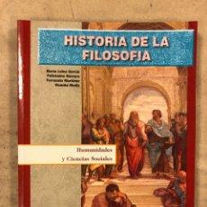 Libros de segunda mano: HISTORIA DE LA FILOSOFÍA. VV.AA. 2º BACHILLERATO HUMANIDADES Y CIENCIAS SOCIALES. EDITEX 1998. Lote 174607244