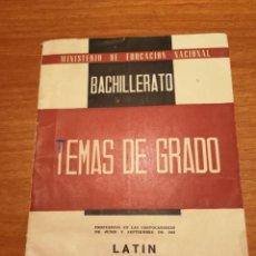 Libros de segunda mano: BACHILLERATO TEMAS DE GRADO LATIN. Lote 174838928