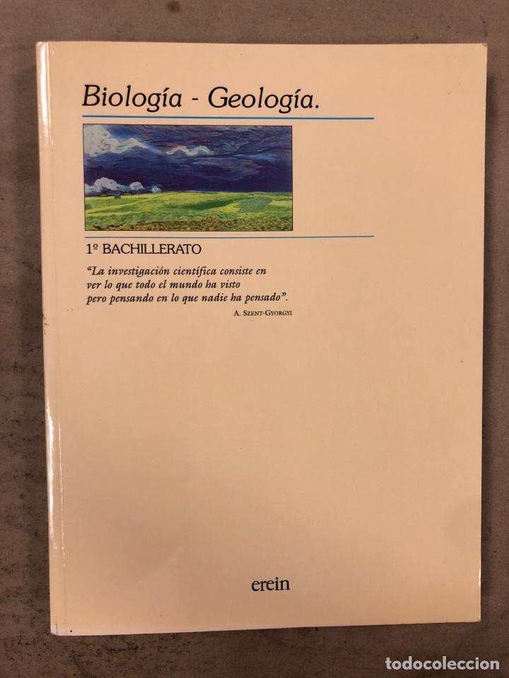 BIOLOGÍA - GEOLOGÍA. VV.AA. 1º BACHILLERATO. EDITA: EREIN 1997. 349 PÁGINAS. COMO NUEVO. (Libros de Segunda Mano - Libros de Texto )