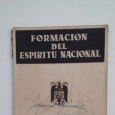 Libros de segunda mano: FORMACION DEL ESPIRITU NACIONAL. PRIMER AÑO DE BACHILLERATO. MUNUEL ALVAREZ LASTRA. TDK416. Lote 175071888
