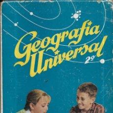 Libros de segunda mano: == ED75 - GEOGRAFIA UNIVERSAL 2º AÑO - ANTONIO M. ZUBÍA - EDICIONES S. M.. Lote 175075677