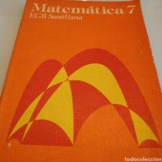 Libros de segunda mano: MATEMÁTICA 7 EGB SANTILLANA. Lote 183078932