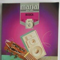 Libros de segunda mano: MÚSICA 5 EP 2° CICLO MARJAL. Lote 175464319