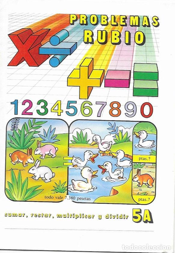 CUADERNO PROBLEMAS RUBIO * SUMAR, RESTAR.... *Nº 5 A -AÑO 1977 (Libros de Segunda Mano - Libros de Texto )