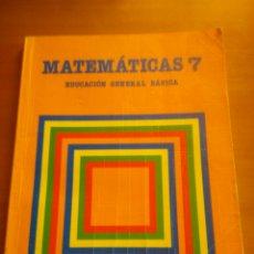 Libros de segunda mano: LIBRO MATEMÁTICAS 7 EGB SANTILLANA. Lote 176000658