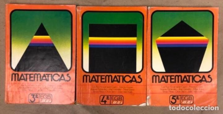MATEMÁTICAS 3º, 4º Y 5º DE EGB. EDICIONES ANAYA 1987. (Libros de Segunda Mano - Libros de Texto )