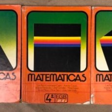 Libros de segunda mano: MATEMÁTICAS 3º, 4º Y 5º DE EGB. EDICIONES ANAYA 1987.. Lote 146559730