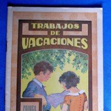 Libros de segunda mano: CUADERNO DE TRABAJOS DE VACACIONES. PRIMER GRADO. EDITORIAL DALMAU CARLES PLA, SIN FECHA.. Lote 176271237