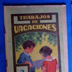 Libros de segunda mano: CUADERNO DE TRABAJOS DE VACACIONES. 2 SEGUNDO GRADO. EDITORIAL DALMAU CARLES PLA, SIN FECHA.. Lote 176271617