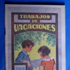 Libros de segunda mano: CUADERNO DE TRABAJOS DE VACACIONES. TERCER GRADO. EDITORIAL DALMAU CARLES PLA, SIN FECHA.. Lote 176272368