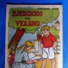 Libros de segunda mano: CUADERNO DE EJERCICIOS DE VERANO 2. EZEQUIEL JANÉ. EDITORIAL MIGUEL A. SALVATELLA, SIN FECHA.. Lote 176273122