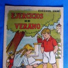 Libros de segunda mano: CUADERNO DE EJERCICIOS DE VERANO 1. EZEQUIEL JANÉ. EDITORIAL MIGUEL A. SALVATELLA, SIN FECHA.. Lote 176273653