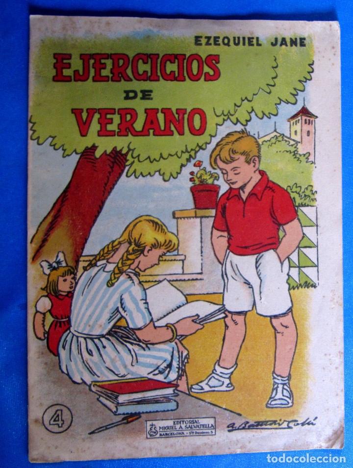 CUADERNO DE EJERCICIOS DE VERANO 4. EZEQUIEL JANÉ. EDITORIAL MIGUEL A. SALVATELLA, SIN FECHA. (Libros de Segunda Mano - Libros de Texto )