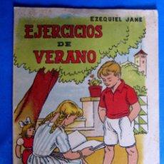 Libros de segunda mano: CUADERNO DE EJERCICIOS DE VERANO 4. EZEQUIEL JANÉ. EDITORIAL MIGUEL A. SALVATELLA, SIN FECHA.. Lote 176274844