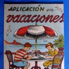Libros de segunda mano: CUADERNO DE APLICACIÓN EN VACACIONES 3. EDITORIAL MIGUEL A. SALVATELLA, SIN FECHA.. Lote 176275909
