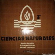 Libros de segunda mano: CIENCIAS NATURALES 3°BUP. ANAYA. AÑO 1977. EMILIO ANADÓN, M ESTHER ÁLVAREZ, RAFAEL SIMANCAS. ENCUADE. Lote 176360578