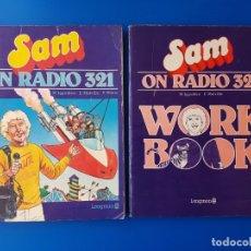 Libros de segunda mano: SAM ON RADIO 321 + WORK BOOK - INGLES - LONGMAN GROUP - 1984 - EGB - IMÁGENES DE ASTERIX Y OBELIX. Lote 249609430
