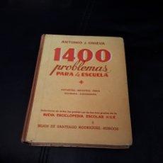 Libros de segunda mano: 1400 PROBLEMAS PARA LA ESCUELA. HIJOS DE SR BURGOS AÑO 1958. Lote 176912522