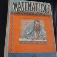 Libros de segunda mano: MATEMATICAS SEGUNDO CURSO EDITORIAL LUIS VIVES. Lote 176987553