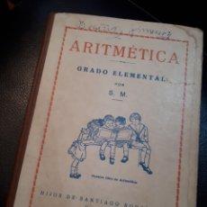 Libros de segunda mano: ARITMETICA ELEMENTAL.GRADO ELEMENTAL. BURGOS. Lote 177317048
