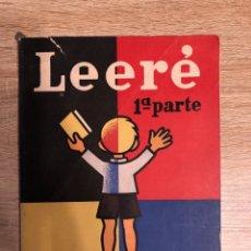 Livres d'occasion: LEERE. 1ª PARTE. VICENTE VALLS BELLOD. LIBRERIA Y CASA EDITORIAL. MADRID, 1960. PAGS: 56. Lote 177518553