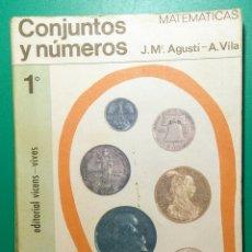 Libros de segunda mano: LIBRO DE MATEMÁTICAS. 1968. 1° BACHILLERATO.. Lote 177613884
