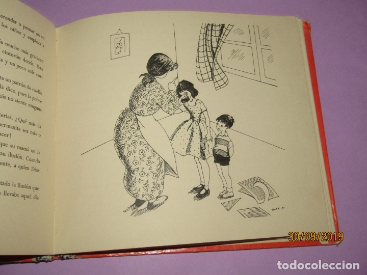 Libros de segunda mano: Antiguo Libro EN LA CLASE DE COSTURA Método Infantil de Corte y Confección del Año 1956 - Foto 2 - 177944028