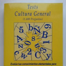 Libros de segunda mano: TEST CULTURA GENERAL ( 1.600 PREGUNTAS) - CENTRO DE ESTUDIOS PROCESALES - 1993. Lote 177976893