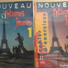 Libros de segunda mano: NOUVEAU RYTHMES JEUNES. METHODE DE FRANCAIS ET CAHIER. 1º CURSO. Lote 178223998