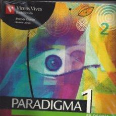Libros de segunda mano: PARADIGMA 1 FILOSOFIA. BACHILLERATO 1º CURSO. Lote 178588975