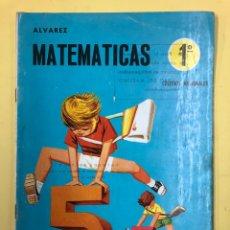 Libros de segunda mano: MATEMATICAS 1º ALVAREZ - CUADERNO NUMERO 1 - EDICIONES MIÑON - 1ª EDICION 1969. Lote 178609647