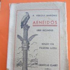 Libros de segunda mano: AENEIDOS , LIBERSECUNDUS , EN LATIN , VERGILII MARONIS , 1954 , ENRIQUE MARTIJA , EDICION ESCOLAR. Lote 178737666