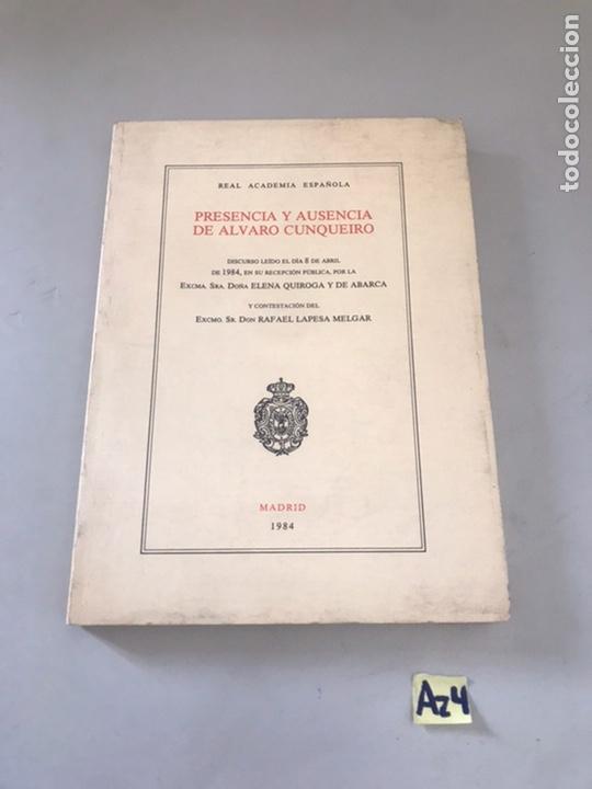 PRESENCIA Y AUSENCIA DE ALVARO CUNQUEIRO (Libros de Segunda Mano - Libros de Texto )