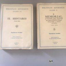 Libros de segunda mano: BIBLIÓFILOS ASTURIANOS VOLÚMENES 8 Y 9. Lote 178839195