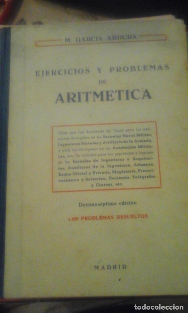 EJERCICIOS Y PROBLEMAS DE ARITMÉTICA (MADRID, 1959) (Libros de Segunda Mano - Libros de Texto )